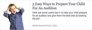 BS-3 Easy Ways to Prepare Your Child for an Audition