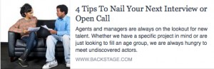 BS-4 Tips To Nail Your Next Interview or Open Call