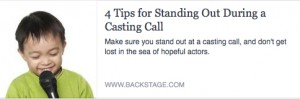 BS-4 Tips for Standing Out During a Casting Call