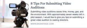 BS-8 Tips for Submitting Video Auditions