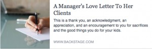 BS-A Managers Love Letter to Her Clients