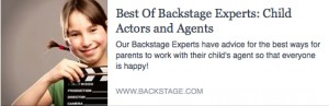BS-Best of Backstage Experts-Child Actors and Agents