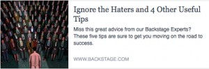 BS-Ignore the Haters and 4 other Useful Tips
