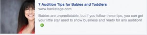 BS-7 Audition Tips for Babbies and Toddlers