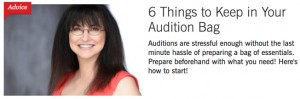 BS-6 Things to Keep in Your Audition Bag