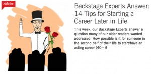 BS-Backstage Experts Answer- 14 Tips for Starting a Career Later in Life